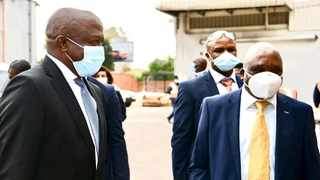 Deputy President David Mabuza and officials visited the Biovac Institute in Gauteng. Picture: GCIS