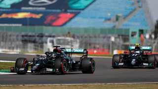 Lewis Hamilton led Valtteri Bottas atop the timesheets for final practice at the Formula One 70th Anniversary Grand Prix on Saturday. Picture: Frank Augstein/AP Photo