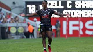 Sbu Nkosi of the Sharks during their Super Rugby match against the Stormers at Kings Park in Durban earlier this year. Photo: Muzi Ntombela/BackpagePix