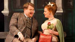 "James Corden on stage in ""One Man Two Guvnors"". Picture: Johan Persson"