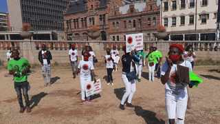 A group of post graduates took part in a march create awareness around unemployment among graduates Picture Oupa Mokoena/African News Agency (ANA)