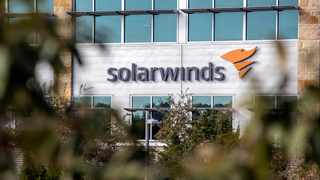 The SolarWinds logo is seen outside its headquarters in Austin, Texas, U.S. File picture: Reuters/Sergio Flores