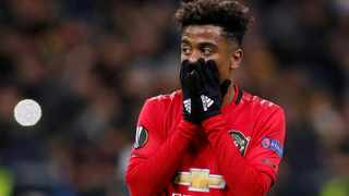 FILE - Manchester United's Angel Gomes reacts during a Europa League game against Astana in November last year. Photo: Valentyn Ogirenko/Reuters