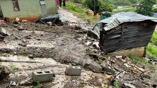 Heavy rains caused an embankment to collapse, leading to a wall falling onto three shacks, claiming the lives of two men. Picture: IPSS Medical