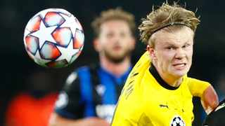 Borussia Dortmund's Erling Haaland during their Champions League game against Club Brugger earlier this month. Photo: Francois Lenoir/Reuters