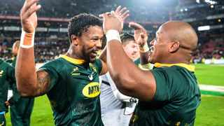 Sikhumbuzo Notshe and Bongi Mbonambi admitted they were relishing the opportunity of playing in his special encounter. Photo: @Springboks on twitter