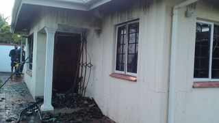 One person died in a house fire in Mount Edgecombe on Friday morning. Picture: KZN VIP