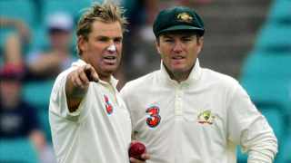 Australia's Shane Warne and Stuart MacGill formed a deadly partnership during their playing days. Picture: David Gray/Reuters