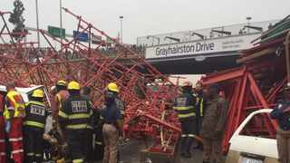 Grayston bridge collapse. Photo: ER24