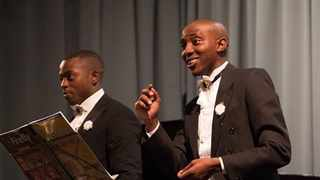 Tenors Mlindi Pato and Kananelo Sehau will perform in the i Grandi Tenori Christmas Extravaganza with Friends of Music.