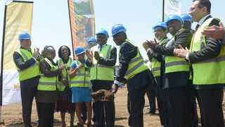 A file picture of President Cyril Ramaphosa launching the Tshwane Automotive Hub at the Ford Motor Company. Picture: Oupa Mokoena/African News Agency (ANA)