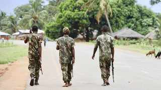 Mozambican troops on patrol in the country's northern Cabo Delgado province. File picture: Adrien Barbier/AFP