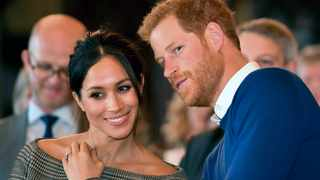 Britain's Prince Harry and Meghan Markle. Picture: Ben Birchall/Pool Photo via AP