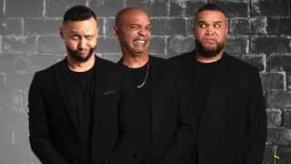 """Comedy giants Nicholas, Donovan and Jason Goliath will entertain you daily on """"Goliaths Go Live"""" on Sky Room Live. Picture: Supplied"""