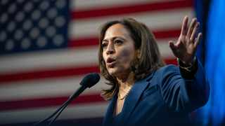 Democratic presidential candidate Joe Biden has picked Senator Kamala Harris as his choice for vice president, making her the first Black woman on a major-party US presidential ticket. Picture: Keiko Hiromi/AFLO