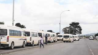 Taxis park along the R101 near Bloekombos taxi rank. Farmers in the Joostenbergvlakte area say they are being extorted when transporting their workers to and from work. Picture: Henk Kruger/ African News Agency (ANA)