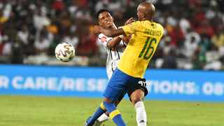 15 January 2020 - Orlando Pirates player Vincent Pule battle for the ball with Mamelodi Sundowns player Anele Ngcongca during the Absa Premiership at Orlando Stadium in Soweto. Photo: Itumeleng English/African News Agency (ANA)