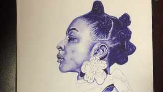 Thuso Modikela's art came second place. Picture: Supplied.