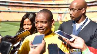 Kaizer Chiefs player Khama Billiat speaks to reporters. Picture: Itumeleng English/African News Agency (ANA)