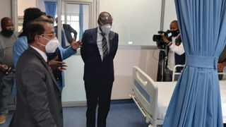 SA Health Minister, Dr Zweli Mkhize, visited KZN this week to monitor the province's response to Covid-19.Picture: Supplied