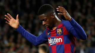 Ousmane Dembele was on the point of returning after a lengthy absence with a hamstring injury. Photo: Albert Gea/Reuters