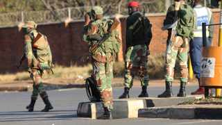 Armed soldiers patrol the streets in Harare. File picture: Tsvangirayi Mukwazhi/AP