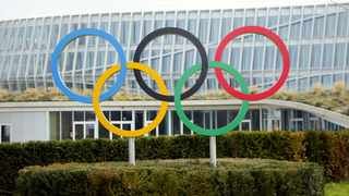 FILE - The Olympic rings are pictured in front of the International Olympic Committee (IOC) headquarters in Lausanne, Switzerland. Photo: Denis?Balibouse/Reuters