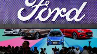 The new Ford Focus car is displayed during a media preview at the Auto China 2018 motor show in Beijing, China. REUTERS/Jason Lee/File Photo