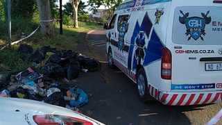 A newborn was found inside a refuse bag that was dumped at a corner in Phoenix, north of Durban, on Tuesday afternoon. PICTURE SUPPLIED