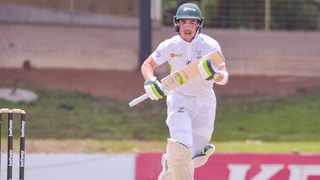 Matthew Breetzke of the Warriors during day 2 of the CSA 4-Day 2020/21 game between the Knights and the Warriors at Mangaung Oval in Bloemfontein. Photo: Frikkie Kapp/BackpagePix
