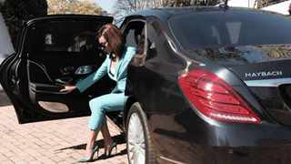 """Her Highness: Bonang Matheba, who refers to herself as Queen B similar to US singer Beyonc� with whom she shares the letter """"B"""" in their names, getting around in a Maybach S500 in Johannesburg. Picture: Mercedes-Benz SA, used with permission from Bonang Matheba"""