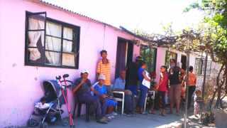 Some of the over 40 family members who are crammed into a three-roomed dwelling. They will finally be getting the houses President Cyril Ramaphosa promised them. Picture: Soraya Crowie
