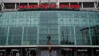 A view from outside Old Trafford, home of Manchester United. Photo: Reuters
