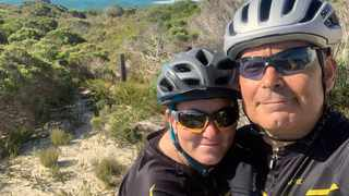 Wife and husband, Anita and Hennie Prinsloo, will be among the seven cyclists, who will take part in the event. SUPPLIED
