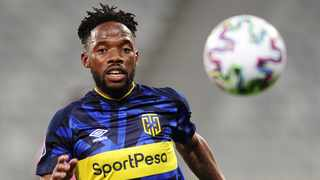Mduduzi Mdantsane of Cape Town City scored the only goal in the match against Maritzburg United on Wednesday. Photo: Ryan Wilkisky/BackpagePix