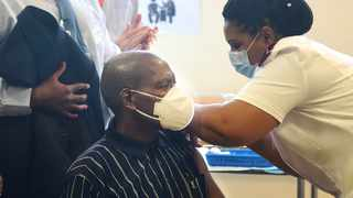 Minister of Health Zweli Mkhize and President Cyril Ramaphosa received vaccine jabs at the Khayelitsha District Hospital in Cape Town. Picture: Phando Jikelo/African News Agency (ANA) Archives