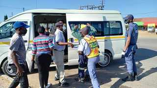 Police held several roadblocks and searched cars and passengers in Winterveld and Rietgat. Picture: James Mahlokwane