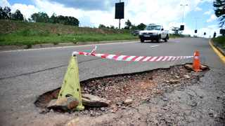 A file picture of a pothole in Moreleta Park, east of the city. Picture: Thobile Mathonsi/African News Agency(ANA)