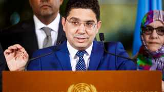 Minister of Foreign Affairs, African Cooperation and Moroccan Expatriates, Nasser Bourita, was present during the reading of the joint statement. Picture: Valentin Flauraud Keystone/AP