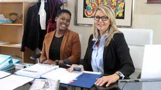 Bongi Dube and advocate Ronelle Ferguson envisage the virtual advocate chambers will be ready by November. Picture: Jacques Naude African News Agency (ANA)
