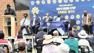 Residents, including farm owners, workers and farm dwellers, at a rural safety imbizo which was hosted by Police Minister Bheki Cele in Normandien, KwaZulu-Natal yesterday. Cele's second visit to the area came after a double murder during an apparent farm attack last month. SAPS