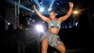 Zodwa Wabantu performing at DJ Tiras Birthday tour at Ostrich farm Cape Town. Picture: Ayanda Ndamane/African/news/agency ANA