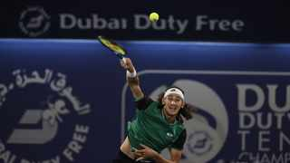 South Africa's Lloyd Harris beat former world No.4, Japan's Kei Nishikori to advance to the semi-finals of the Dubai Tennis Championships on Thursday. Photo: @TennisSA/Twitter