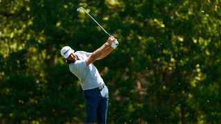 Dustin Johnson plays a shot on the 11th hole during a practice round prior to the Masters at Augusta. Photo: Jared C. Tilton/Getty Images via AFP