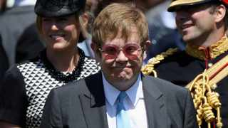 Sir Elton John arrives at the wedding of Prince Harry to Meghan Markle at St George's Chapel, Windsor Castle. Picture: Chris Jackson/Pool via Reuters
