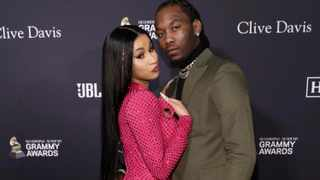 Cardi B, left, and Offset. Picture: Mark Von Holden/AP