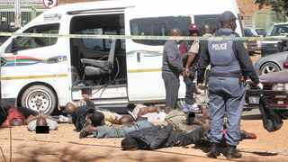 A man was killed, several others arrested and police officers injured in a shooting linked to the taxi industry near Tshwane District Hospital yesterday. Picture: Jacques Naude/African News Agency (ANA)