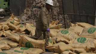 Sacks of ammonium nitrate, substance used to make explosive in Lahore, Pakistan. Picture: K.M.Chaudary/AP