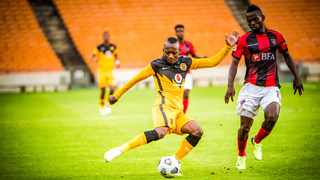 Kaizer Chiefs' Khama Billiat in action during their CAF Champions League clash against Primeiro de Agosto at FNB Stadium in Johannesburg on Wednesday. Photo: Tobias Ginsberg