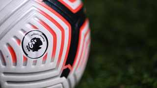 FILE - General view of a Premier League match ball. Photo: Laurence Griffiths/Reuters